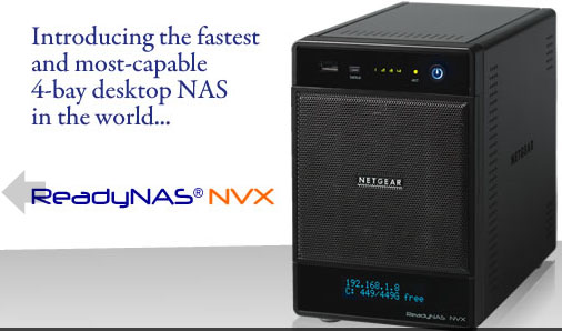 Netgear ReadyNAS NVX - 4 Bay Network Storage