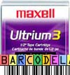 Maxell LTO-3 - with FREE Custom Barcode Labels