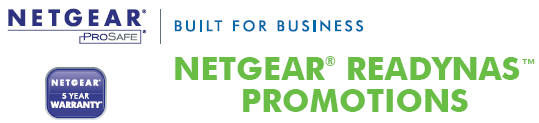 Netgear ReadyNAS Promotions