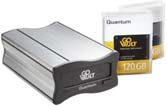 Quantum GoVault Data Protection Solution 1600 - External USB 2.0 Dock with Two Removable 80GB Disk Cartridges P/N: QR1202-B5-S2D08