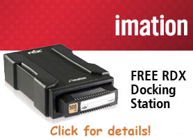 Get a FREE Imation RDX Docking Station with purchase of 3 or more Cartridges