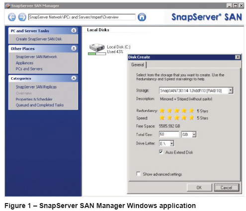 SnapServer S2000 Virtual Optimization iSCSI SAN