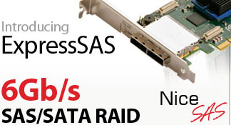 ExpressSAS 6Gb/s RAID Adapter Cards by ATTO