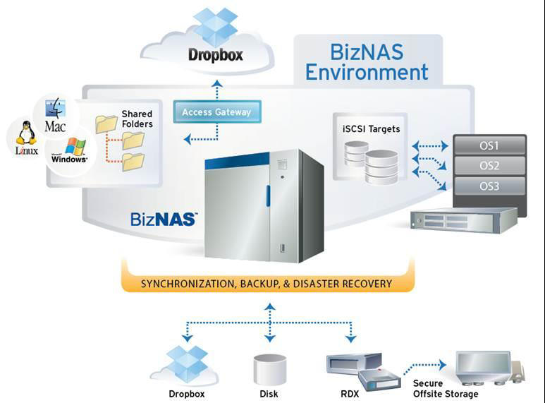Tandberg Data BizNAS - Network Storage NAS Server Environment