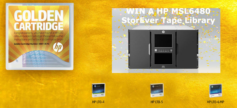 HP Golden Cartridge - Find the HP Ultrium Golden Cartridge and win
