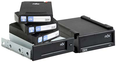 IBM RDX Disk Storage - 500GB -1TB RDX Cartirdges