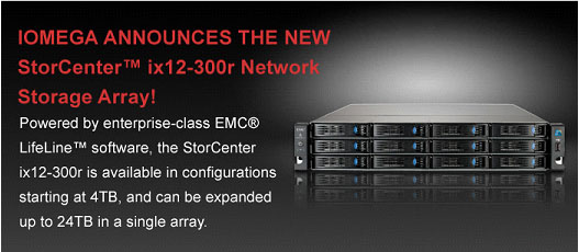 Iomega NAS ix12-300r network storage array