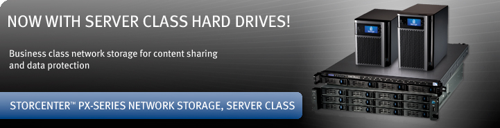 Iomega StorCenter Server Class Storage Arrays - Desktop and Rackmount NAS Storage