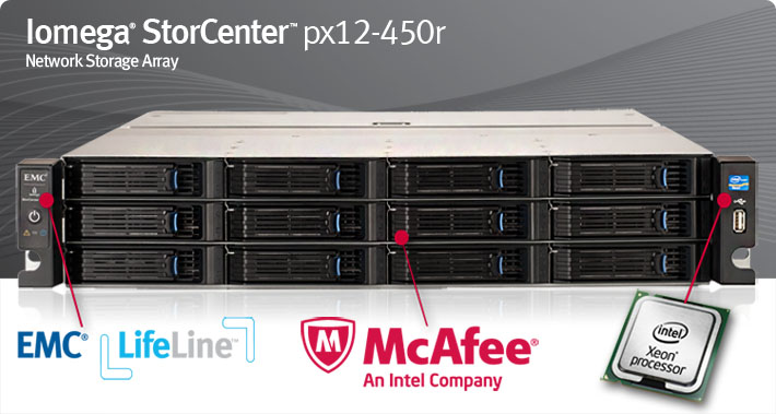 Iomega StorCenter px12-450r up to 48TB Server Class NAS Storage