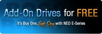 Overland NEO E Series Promotion - Buy and LTO-5 or LTO-6 and get a 2nd Add-on Drive FREE