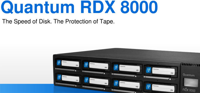 Quantum RDX 8000 8TB iSCSI Disk Based Library