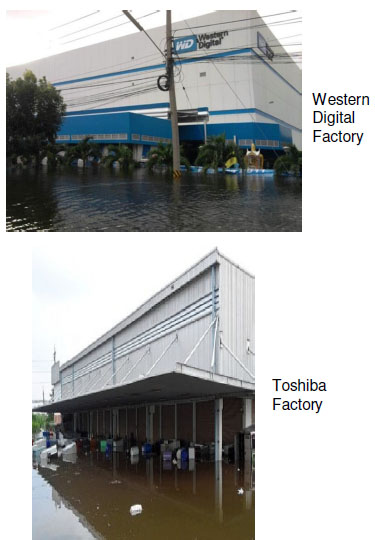 HDD assembly production is located in the Thailand Flood area