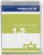 Tandberg Data RDX QuikStor 1.5TB - Removable Disk Cartridge P/N: 8723-RDX (Dell RD1000 Compatible)