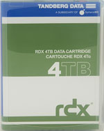 Tandberg Data RDX QuikStor 4TB - Removable Disk Cartridge P/N:8824-RDX (Dell RD1000 Compatible) Now Shipping