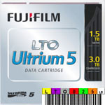 Free custom LTO-5 Barcode Labels w/min. purchase of 20 FujiFilm 16008030 LTO-5 Ultrium data cartridge tapes