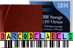 FREE Custom Sequence IBM LTO-8 Barcode Labels w/min. purchase of 20 or more IBM LTO-8 Data Cartridges 01PL041-BCL