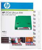 HP Q2009A Ultrium LTO-4 LTO4 Tape Barcode Label Pack (100 Data Lables)