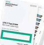 HP Q2016A Ultrium LTO-7 TYPE M RW Tape Barcode Label Pack (100 Data Labels + 10 Cleaning Labels) Part# Q2016A