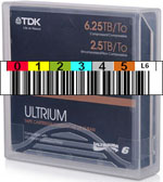 FREE Custom Sequence TDK LTO-6 Barcode Labels w/min. purchase of 20 or more TDK LTO-6 Data Cartridges 62032-BCL