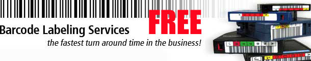 Free Custom Sequence LTO-3 Ultrium Barcode Labels with purchase of Media