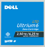Dell LTO-6 Ultrium Tape Media 2.5TB/6.25TB Native/Compressed Capacity LTO6 Data Cartridge Part # 342-5450