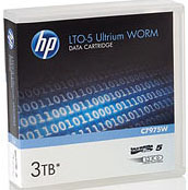 HP LTO-5 Ultrium 3TB WORM Data Cartridge LTO Ultrium-5 WORM Tape Part # C7975W