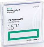 HPE LTO-7 Utrium Tape Cartridge 6TB Native / 15TB Compressed LTO7 Tape Part# C7977A