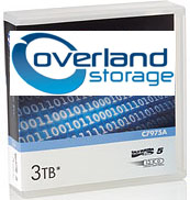 Overland Storage LTO-5 Ultrium Data Cartridges (5 Pack with Labels) 1.5 TB / 3.0 TB LTO Ultrium-5 Tape Part # OV-LTO901009