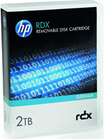 HP StorageWorks RDX 2TB Removable Disk Cartridge Q2046A (Dell PowerVault R