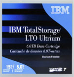 IBM LTO-7 Ultrium Data Cartridge 6TB Native / 15TB Compressed Part# 38L7302