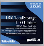 IBM LTO-4 95P4278 Data Cartridge Tape 5-Pack, LTO, Ultrium-4, 800GB / 1.6TB LTO-4 LTO4