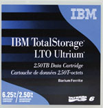 IBM LTO-6 Ultrium Tape Media 2.5TB/6.25TB Native/Compressed Capacity LTO6 Data Cartridge Part # 00V7590
