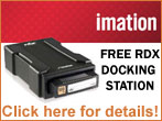 Imation FREE Docking Station Promotion with Purchase of select RDX Cartridges