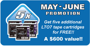 mTape LTO-7 Promotion - 5 Free Fuji LTO-7 tapes with purchase