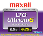 Maxell LTO-6 Ultrium Data Cartridge 2.5TB/6.25TB Capacity LTO Ultrium-6 Tape Media with NeoSMART Part# 229558