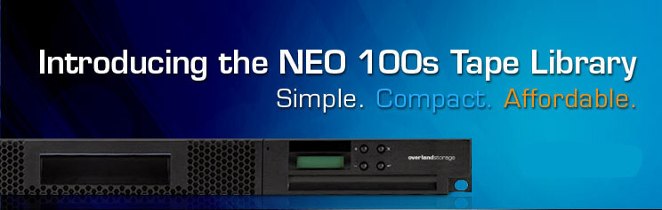Overland Storage NEO 100s Tape Library - 1u 9-slot