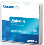 Quantum LTO-6 Ultrium Tape Cartridge - 2.5TB Native/ 6.25TB Compressed Capacity LTO-6 Tape Media Part # MR-L6MQN-01