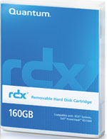 Quantum RDX 160GB Removable Disk Cartridge Part # MR016-A01A