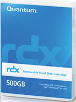 Quantum RDX 500GB Removable Disk Cartridge Part # MR050-A01A