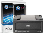 HP StorageWorks RDX Hard Drive Docking Station and 2 x 160GB Removable Disk Cartridge Bundle Q2040AA
