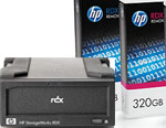 HP StorageWorks RDX External USB Hard Disk Drive Docking Station and 2 x 320GB Removable Disk Cartridge Bundle Q2041AA