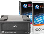 HP StorageWorks RDX External USB Hard Disk Drive Docking Station and 2 x 500GB Removable Disk Cartridge Bundle Q2042AA