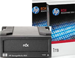 HP RDX 1TB Removable Disk Backup System - HP RDX External USB 3.0 Docking Station and 2 x HP RDX1TB Disk Cartridge Bundle Part# B7B69AA