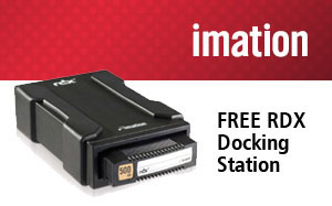 Imation RDX Promotion - buy 3 or more RDX cartridges and receive a free RDX docking station