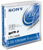 Sony LTO-5 Ultrium Data Cartridge 1.5 TB / 3.0 TB LTO Ultrium-5 Tape Part # LTX1500G