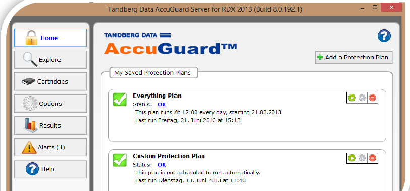 Tandberg Data AccuGuard Server Software for RDX Storage