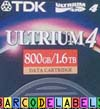 TDK LTO-4 Data Cartridge + FREE custom barcode labels - min order 20
