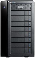 Pegasus2 R8 24TB 8-Bay RAID System with Thunderbolt 2 Technology (8 x 3TB) by Promise Technology Part# P2R8HD24US (HE154VC/A)