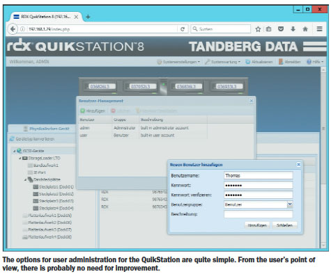 RDX QuikStation 8 User Admin