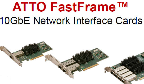ATTO Fastframe 10Gb/s Ethernet Network Interface Card